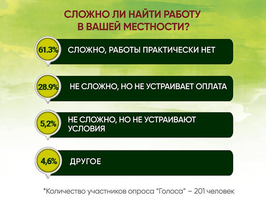 Анкетирование: ГОЛОСа о трудоустройстве - Фото №3
