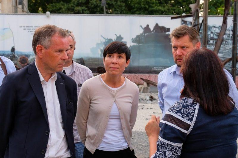 Міністр закордонних справ Норвегії Іне Сьорейде відвідала Дніпро