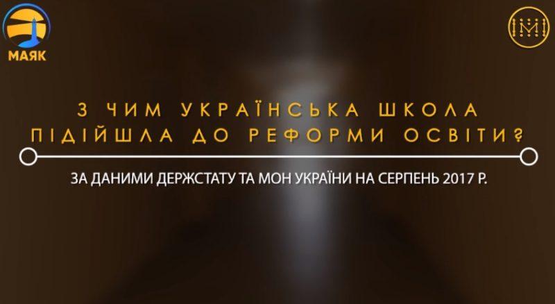 Передреформена українська школа мовою чисел