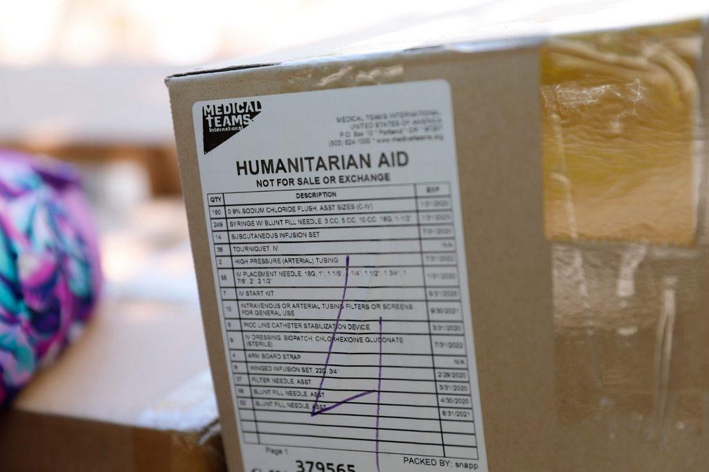Гуманітарний вантаж від міжнародної організації Medical Teams International