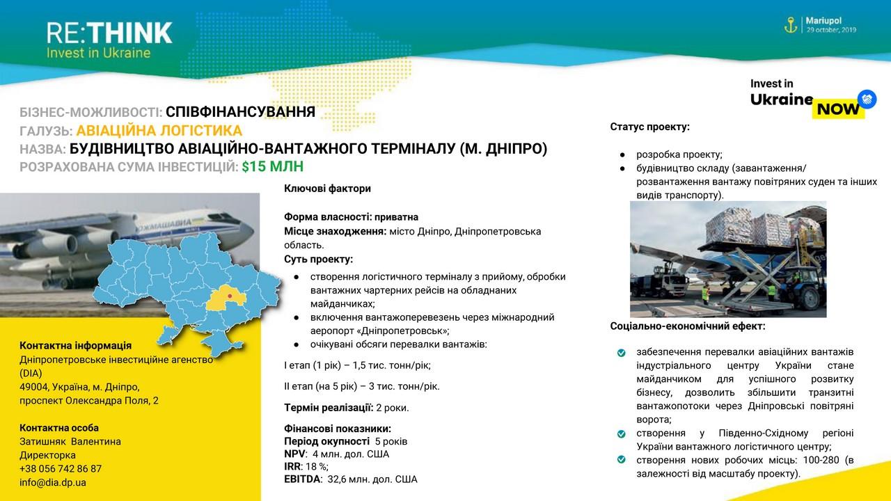 Дніпропетровщина на міжнародному форумі RE: THINK. Invest in Ukraine - Фото №1