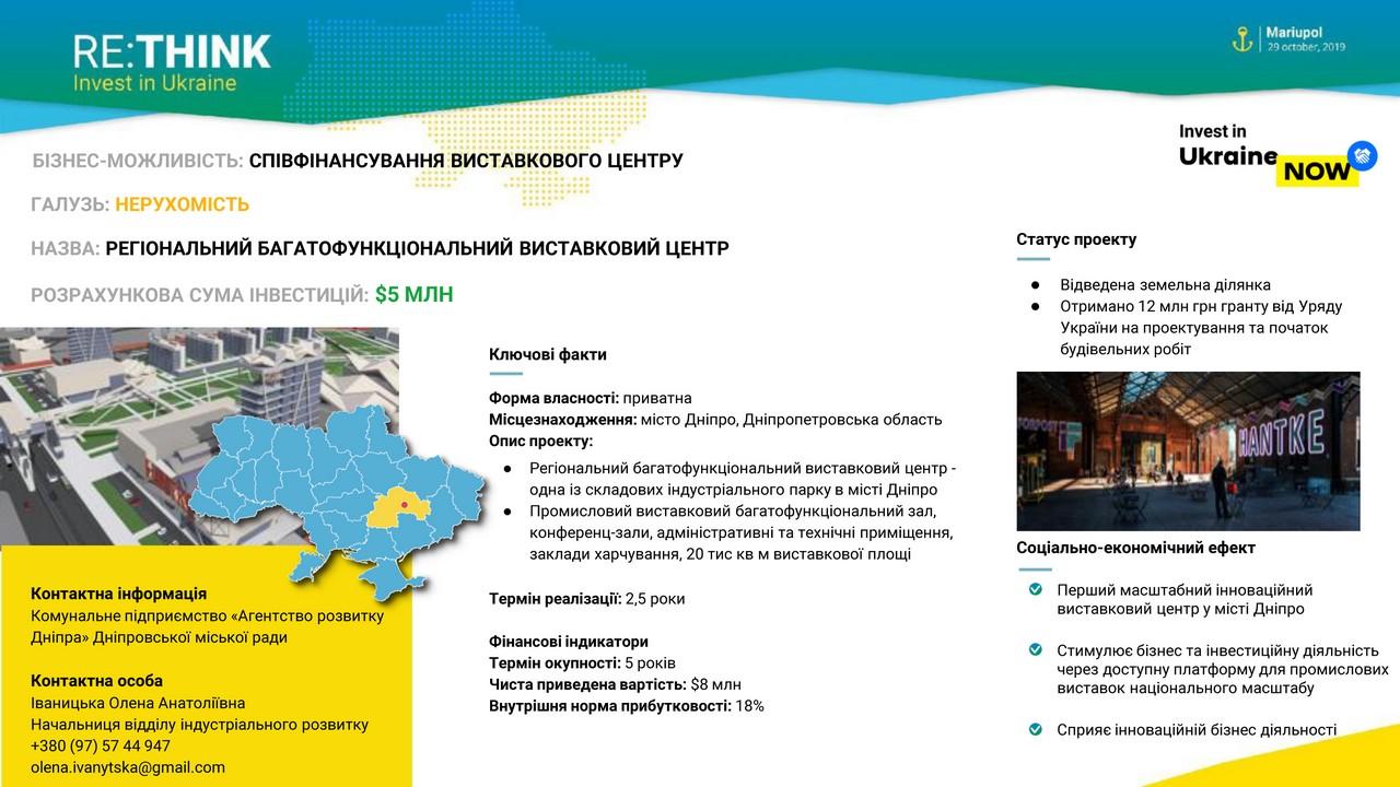 Дніпропетровщина на міжнародному форумі RE: THINK. Invest in Ukraine - Фото №7