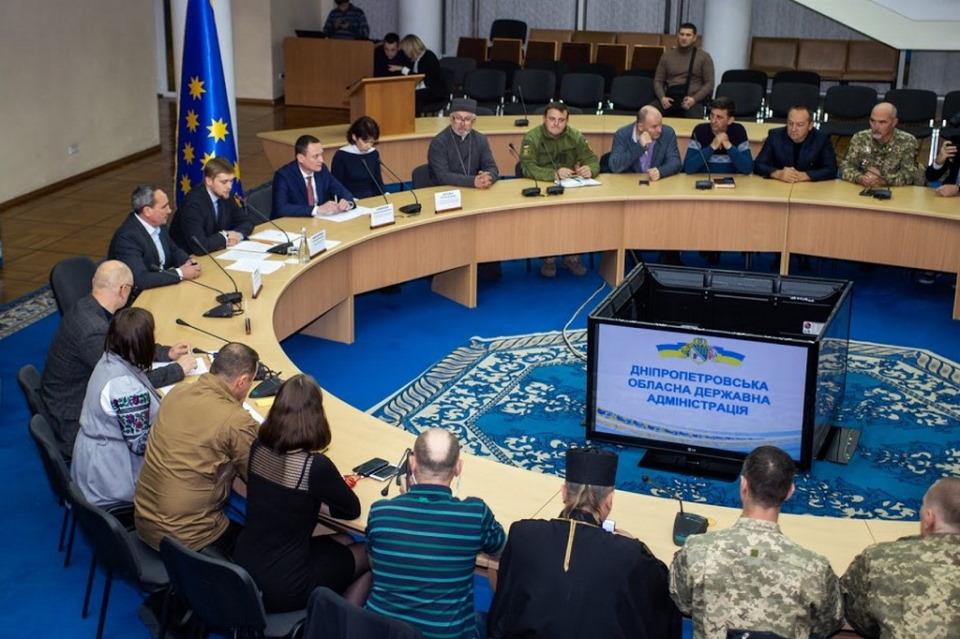 Новостворена Рада ветеранів АТО/ООС – перше засідання в Дніпропетровській ОДА