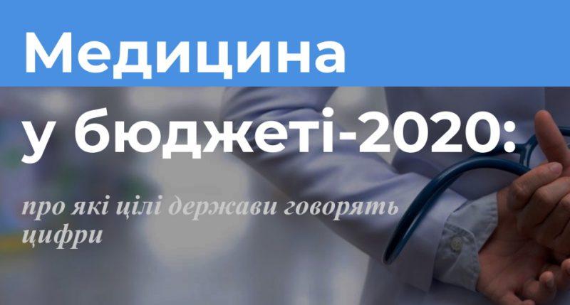 Медицина у бюджеті-2020: про які цілі держави говорять цифри