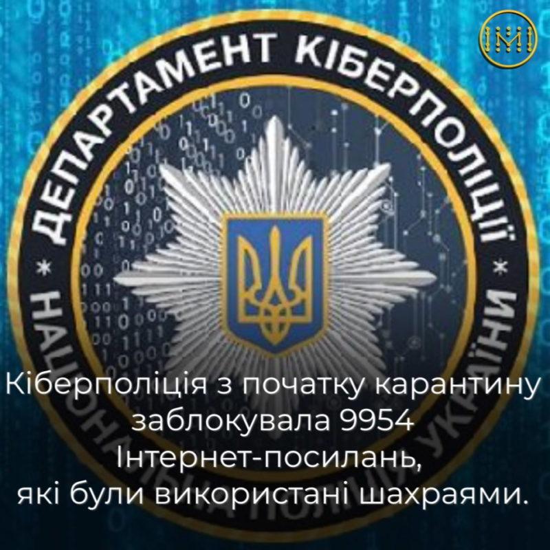 Кіберполіція блокує шахраїв, які спекулюють темою карантину