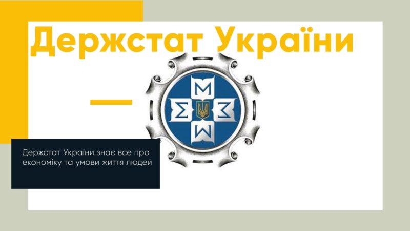 Держстат України знає все про економіку та умови життя людей