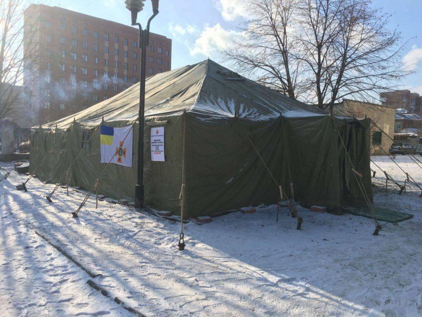 В Донецькій області розгорнуті стаціонарні та мобільні пункти обігріву