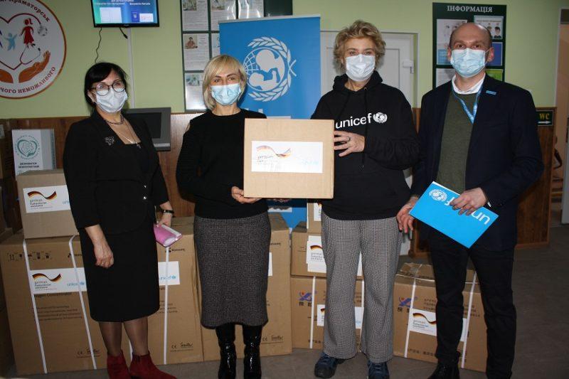 Донеччина отримала від UNICEF кисневі концентратори для перинатального центру